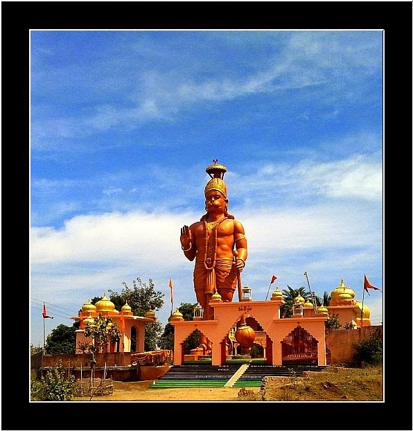 Huge deity of Lord Hanuman near Indore, India