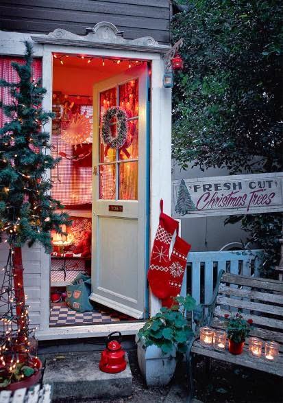 Festive Christmas Front door