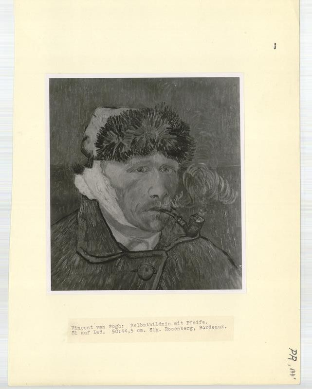 Plundered art van gogh 39 s 1889 depiction of his mutilated self smoking a pipe pr 144 - Van gogh l homme a l oreille coupee ...