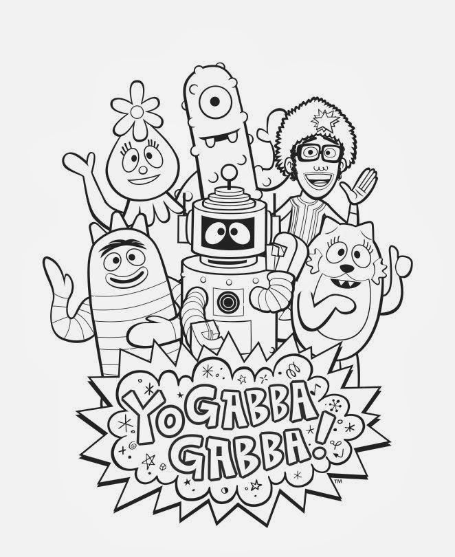 yo gabba gabba coloring pages inspired by savannah enter my yo gabba gabba coloring