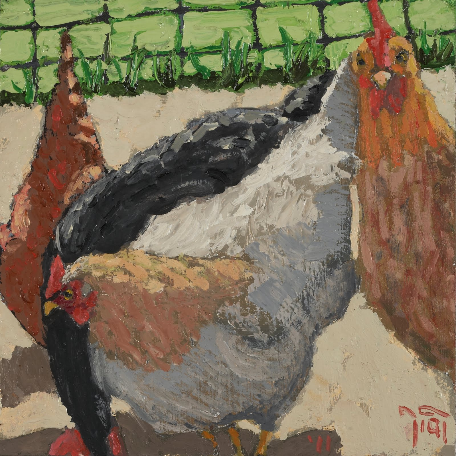 hay house online new chicken paintings