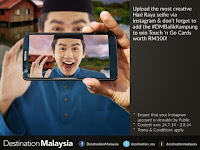 Win Free Touch 'n Go Cards Worth RM100 Through Destination Malaysia Selfie Contest 2014