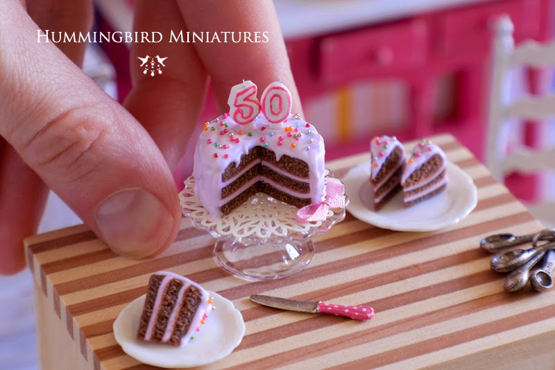Hummingbird Miniatures Number Candles New Cakes