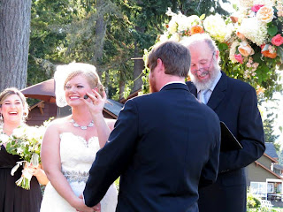 Ania and Chad include Blessing Stones in their wedding ceremony - Kent Buttars, Seattle Wedding Officiant