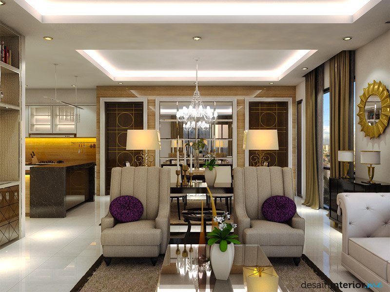 Elegant Modern Apartment Interior Design ~ Simple Design