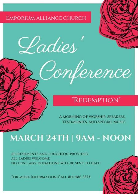 3-24 Ladies Conference, Emporium Alliance Church