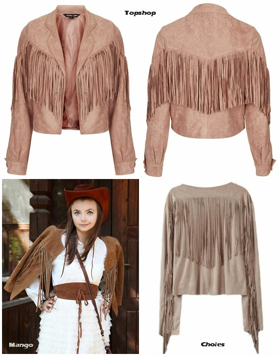 cf. Missguided Ceylia Fringed Jacket Beige