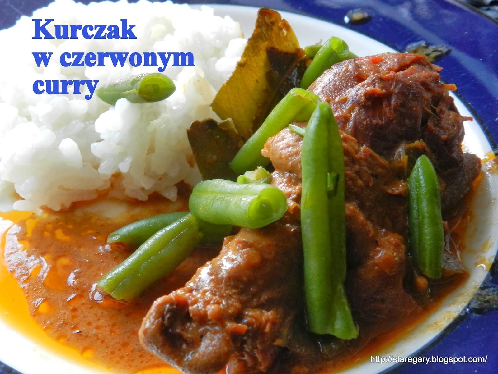 Kurczak  w czerwonym curry w wolnowarze