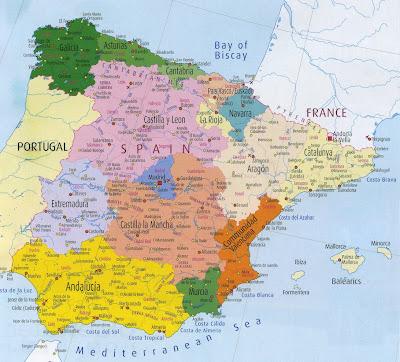 Spanien Karte Bilder Fotos