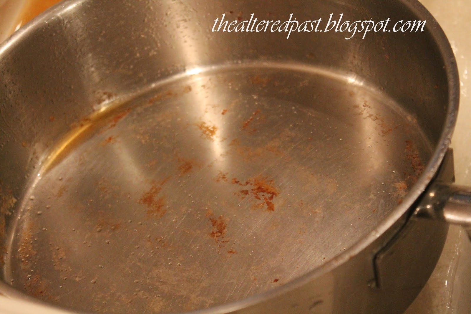easy cleaning tip for baked on food, the altered past blog