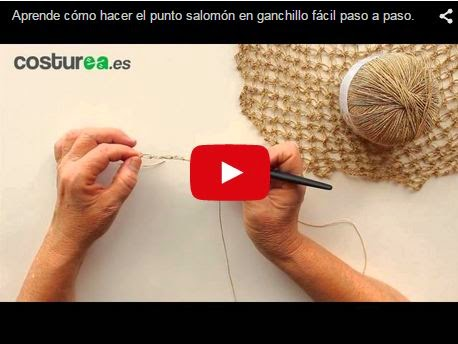 DIY punto salomon ganchillo en video