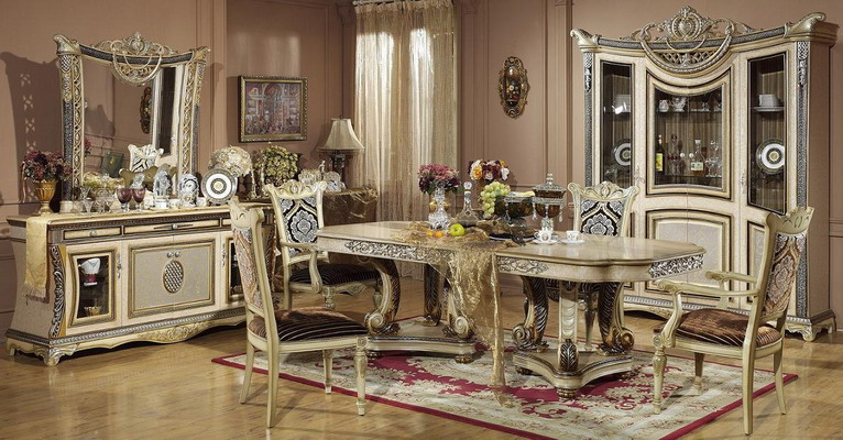 Room Furniture Luxury Classic Italian Dining Sets