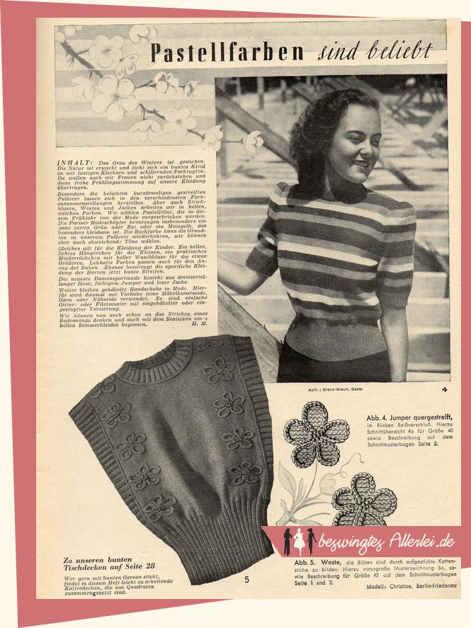 Zeitschriften, 50er Jahre, 40er Jahre, Modehefte