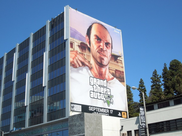 Giant Grand Theft Auto 5 Trevor billboard