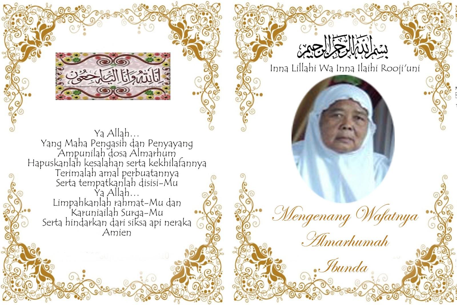 Peace Love Unity Respect Innalillahi Wainnalilahi Rojiun Telah