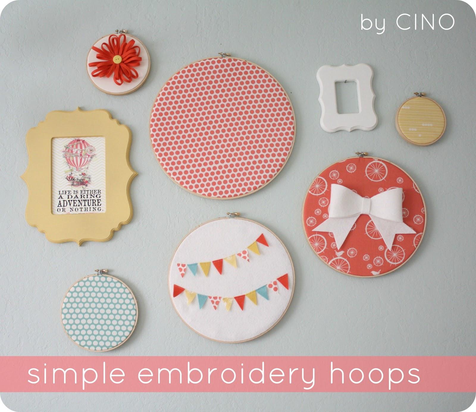 Embroidery Hoopsand A Few Mini Tutorials