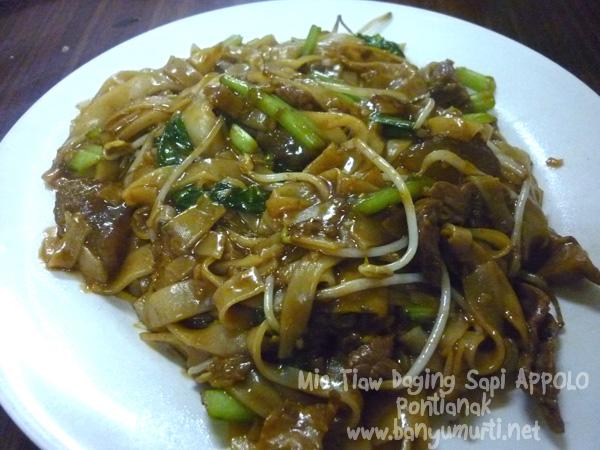 Kuliner Pontianak - Mie Tiaw Daging Sapi Apollo
