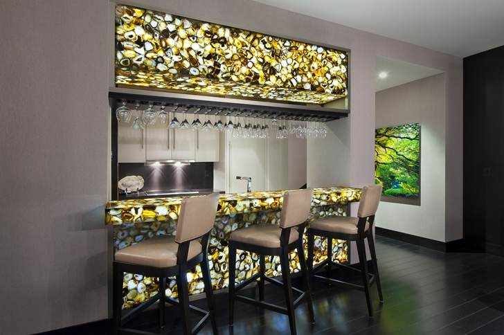 Bar in Miami Beach Penthouse