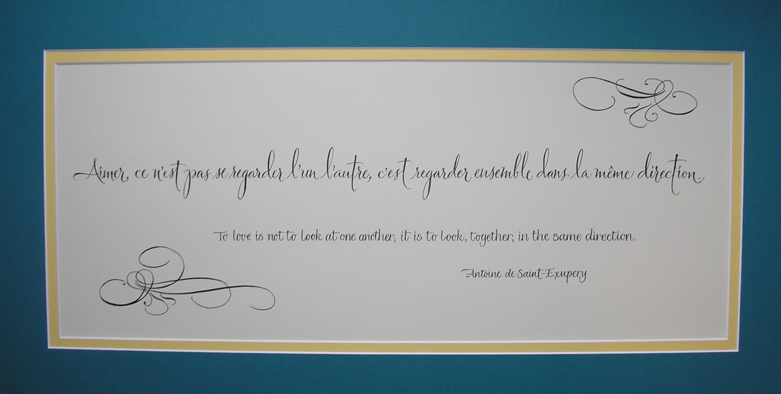 Quotes On Wedding Gift : Wedding Calligraphy by Jane Farr: French Quote for A Wedding Gift