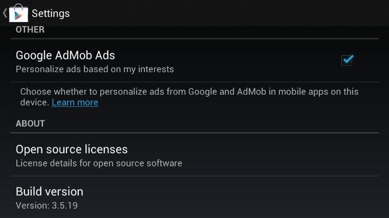Google Play Store v3.5.19