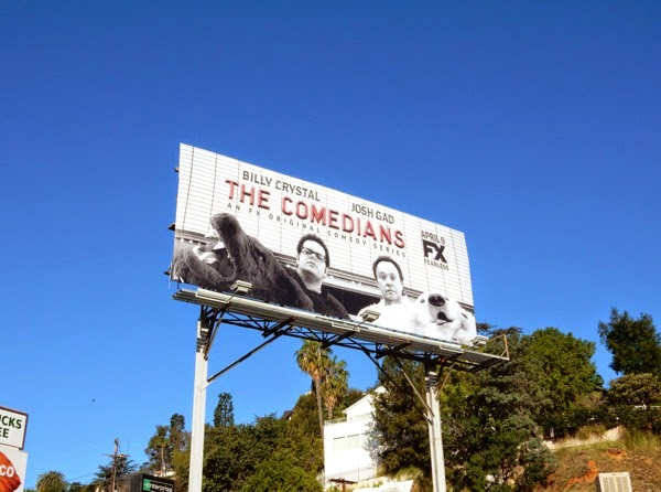 The Comedians series launch billboard