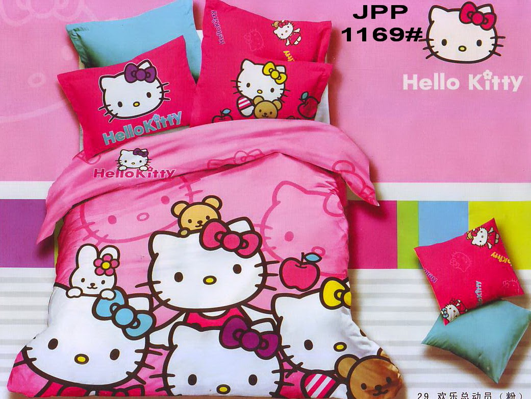 Permata Bedding Sprei Katun Jepang Motif Anak Seprei Hello Kitty