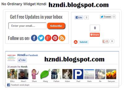 Cara Membuat Widget Subcription + Social Sharing + Facebook Like Box di Bawah Postingan