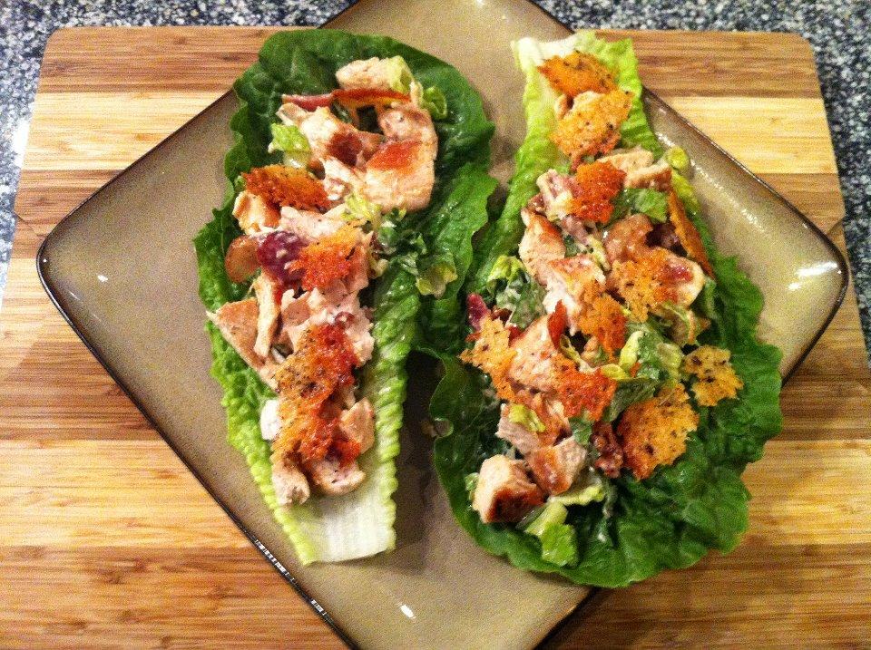 SPLENDID LOW-CARBING BY JENNIFER ELOFF: Chicken Caesar Lettuce Wraps