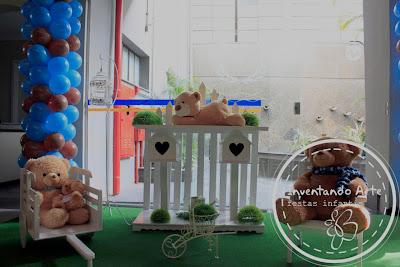 festa infantil ursos azzul marrom ponta grossa