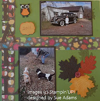 fall scrapbook page