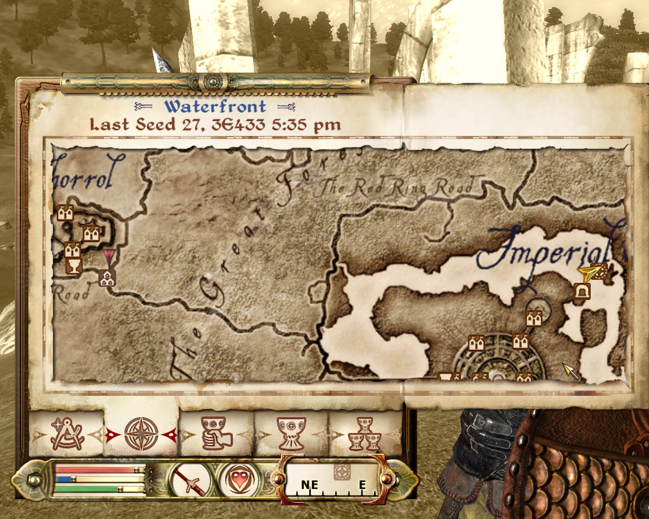 Super adventures in gaming the elder scrolls iv oblivion pc oh yeah the paper map for oblivion is a huge disappointment after the incredibly detailed one i got with morrowind it has nothing on it gumiabroncs Choice Image