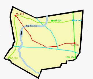 Mapa rio Largo