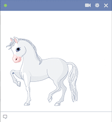 Pony sticker for Facebook