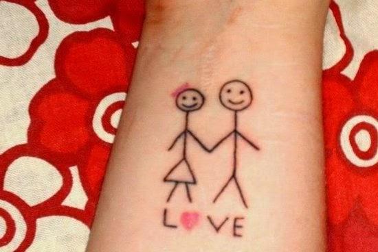 Lovely Love Tattoo On Wrist