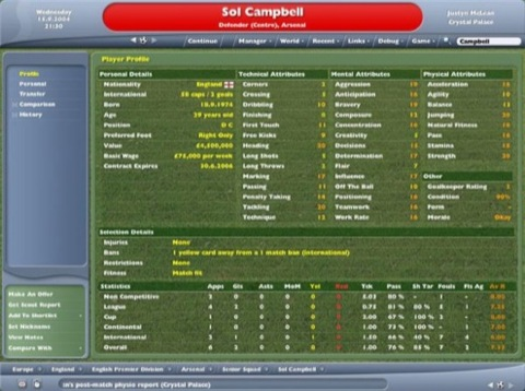 the football manager name whilst the championship manager series will
