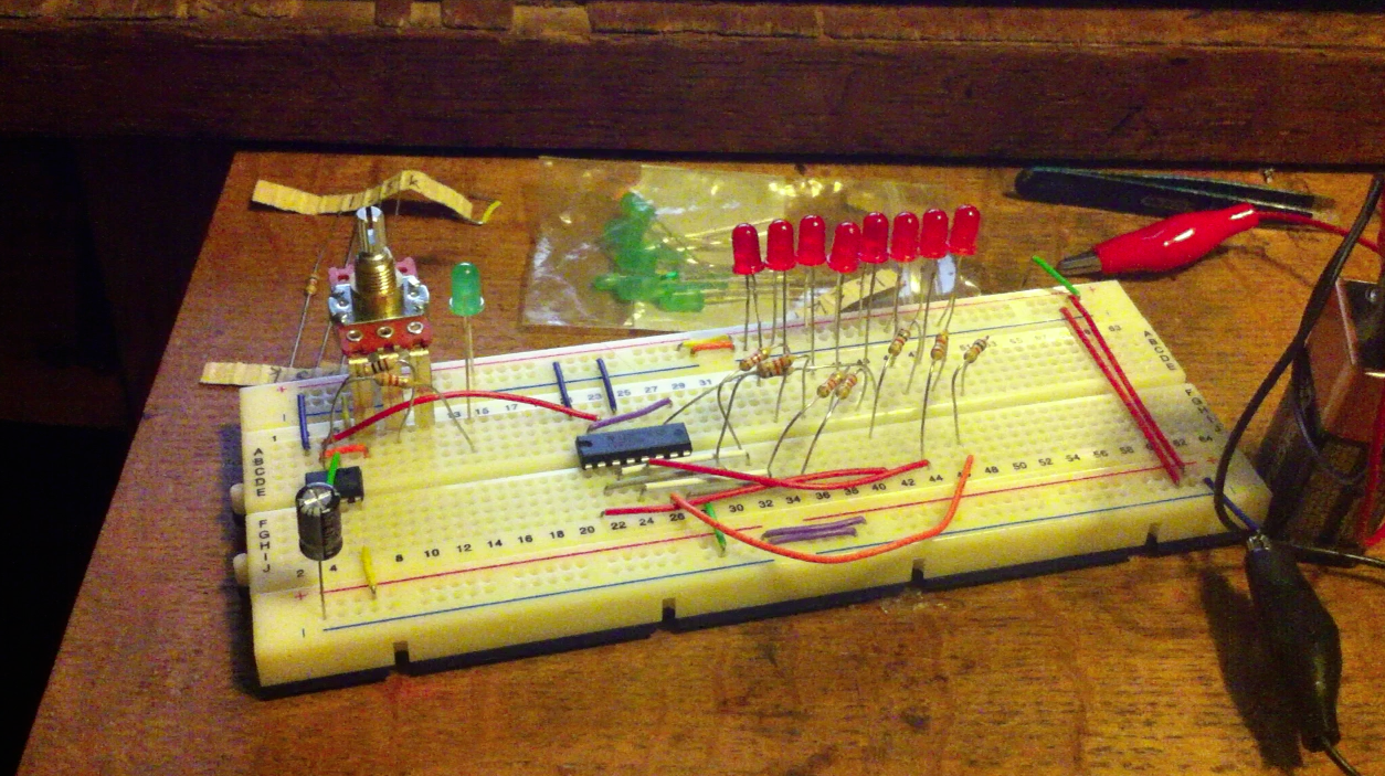 Choice Cuts Building A Lazer Saw Doktor Ross Sewage For 5 Led Chaser Circuit Using 555 Chip Electronics Forum Circuits The Eight Leds Here Lit Up Sequentially And I Could Change Speed As Well Thats Great Little But Needed Lot More Than That