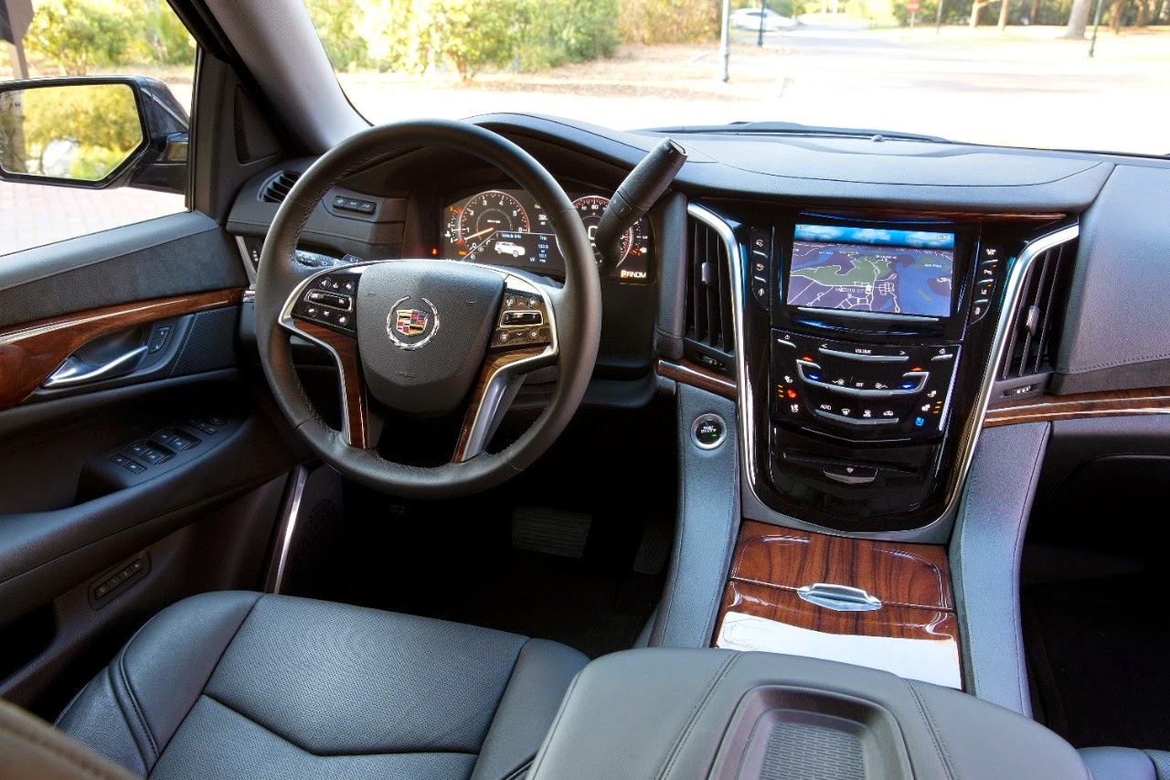 View of the front seating area of the 2015 Cadillac Escalade