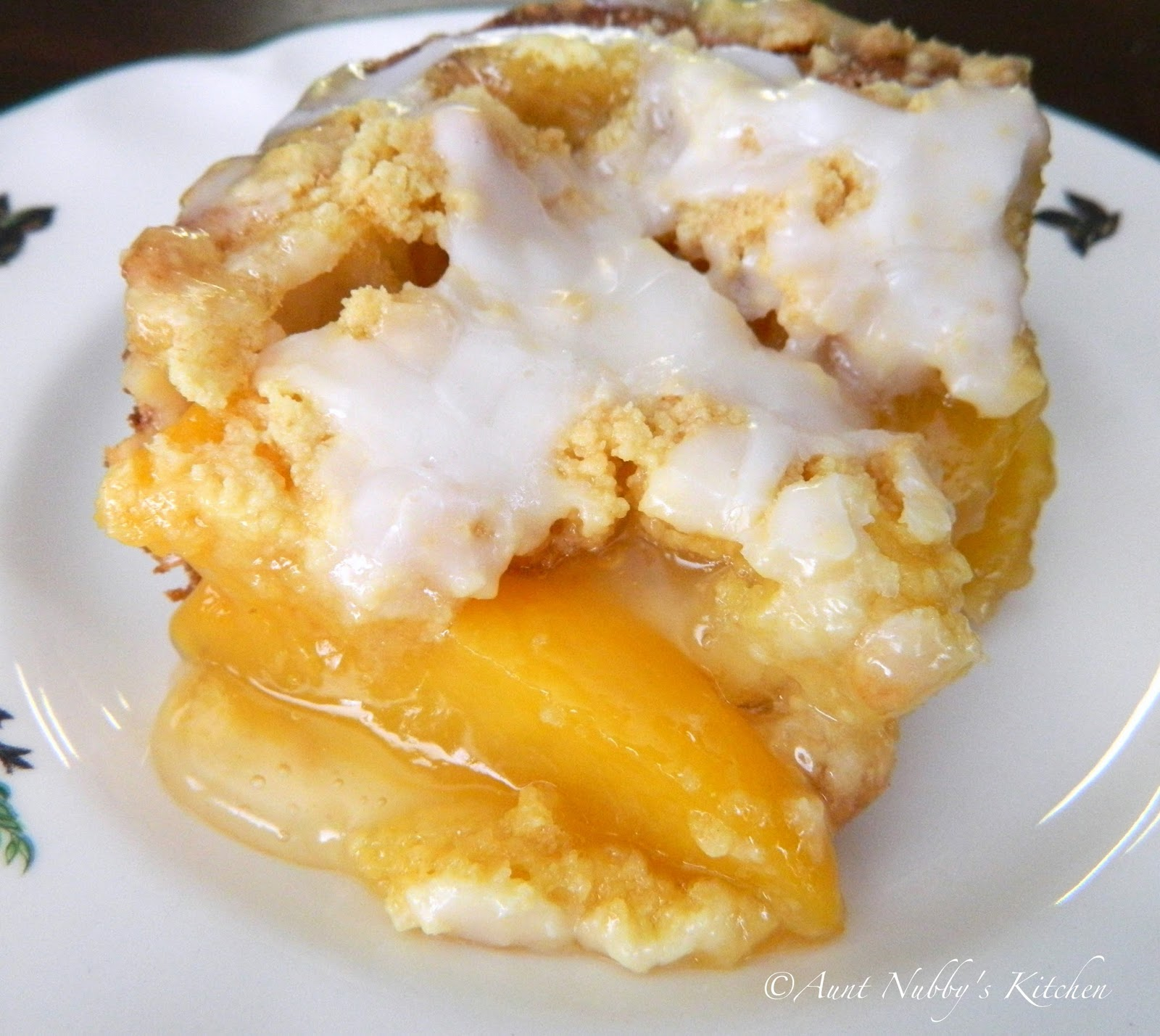 Peach Cobbler Yellow Cake Recipe