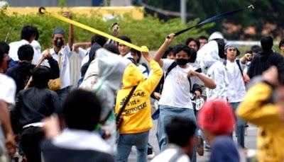 tawuran SMUN Bekasi
