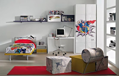 Superhero Bedroom Design For Kids