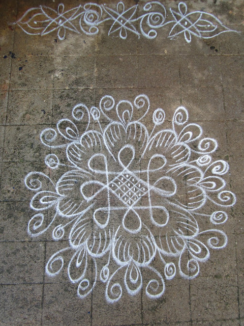 Rangoli Kolangal: simple kolam