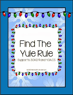 http://www.teacherspayteachers.com/Product/Find-the-Yule-Rule-Holiday-Math-Fun-FREEBIE-943547