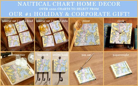 Nautical Chart Decor from Outer Banks Trading Group