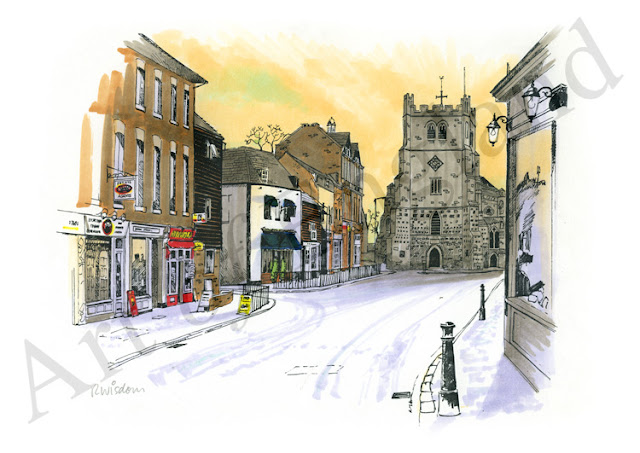 Illustration of Waltham Abbey