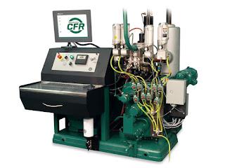 Motore monocilindrico per test numero di ottani RON e MON