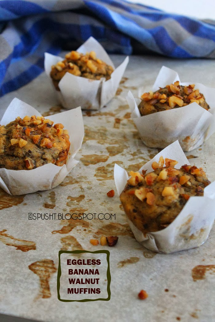 Spusht | Eggless Banana Nut Muffin