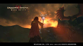 Lanzando un hechizo al Dragón mientras habla