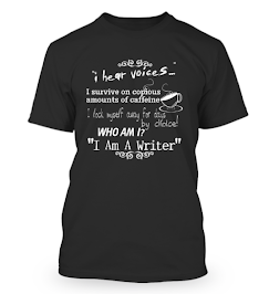 I HEAR VOICES - T-SHIRTS 4 WRITERS