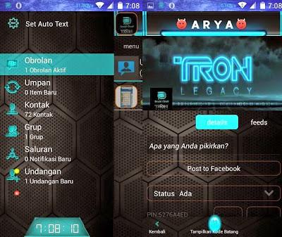 BBM + BBM2 DroidChat Tema Legacy Blue Light Versi 2.8.0.21 Apk
