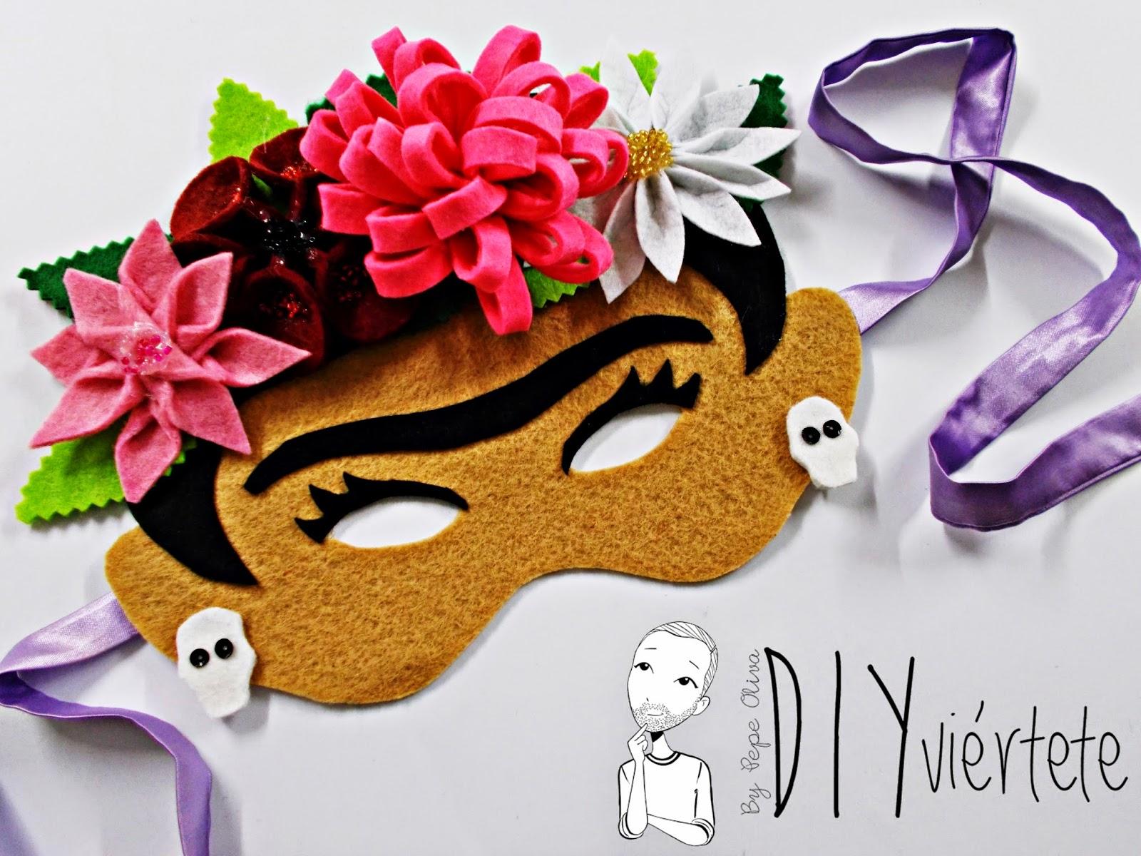 blogersando-máscara-carnaval-frida kaloh-fieltro-flores1